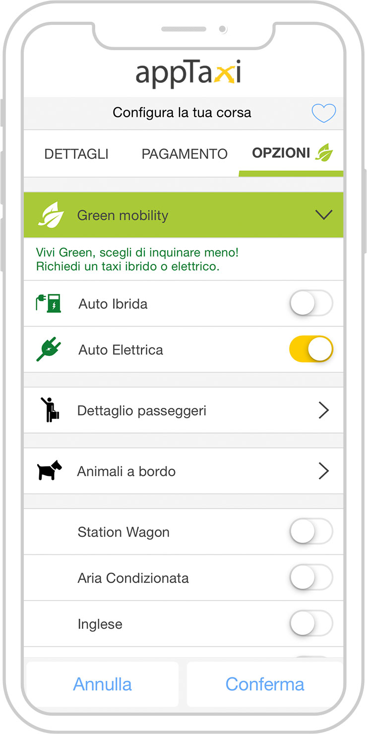appTaxi Green mobility