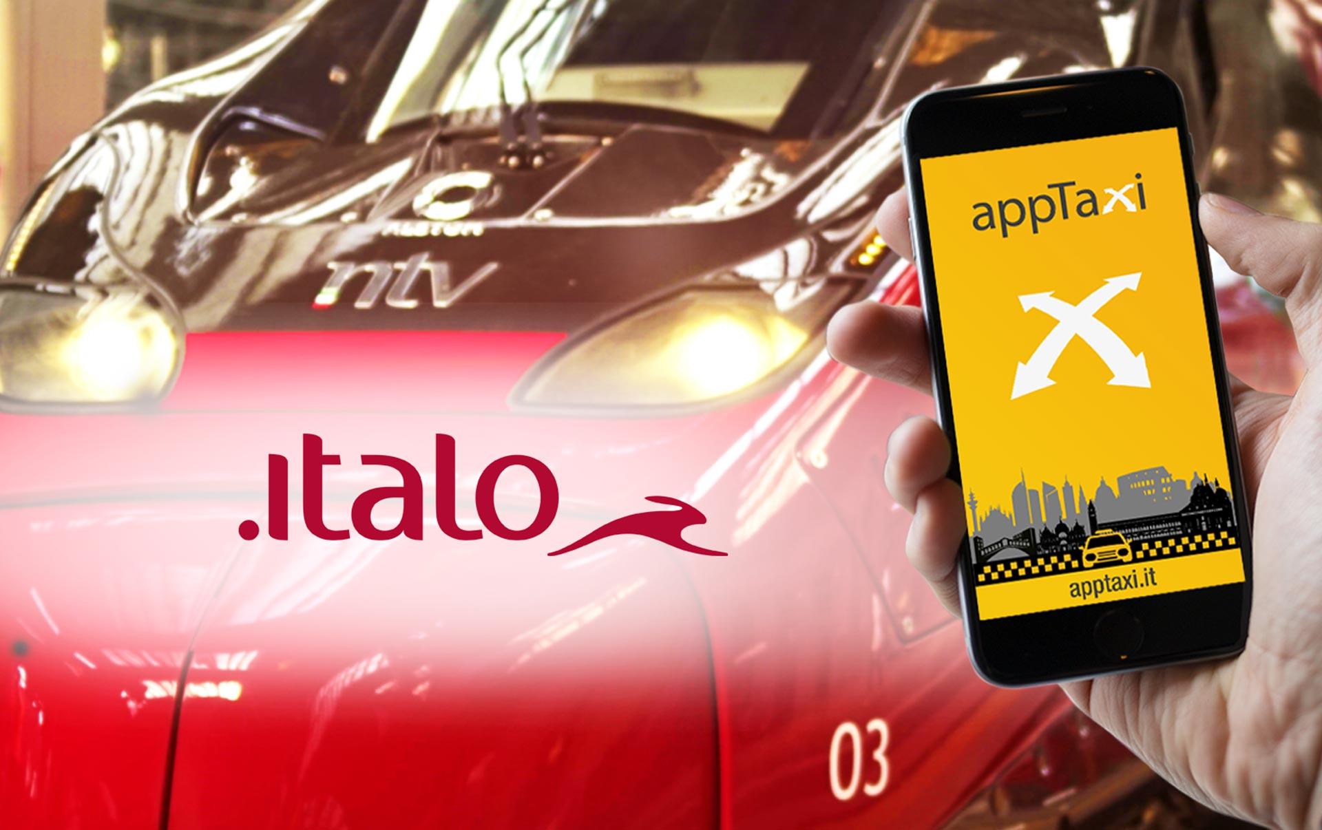 partnership apptaxi e italo treno
