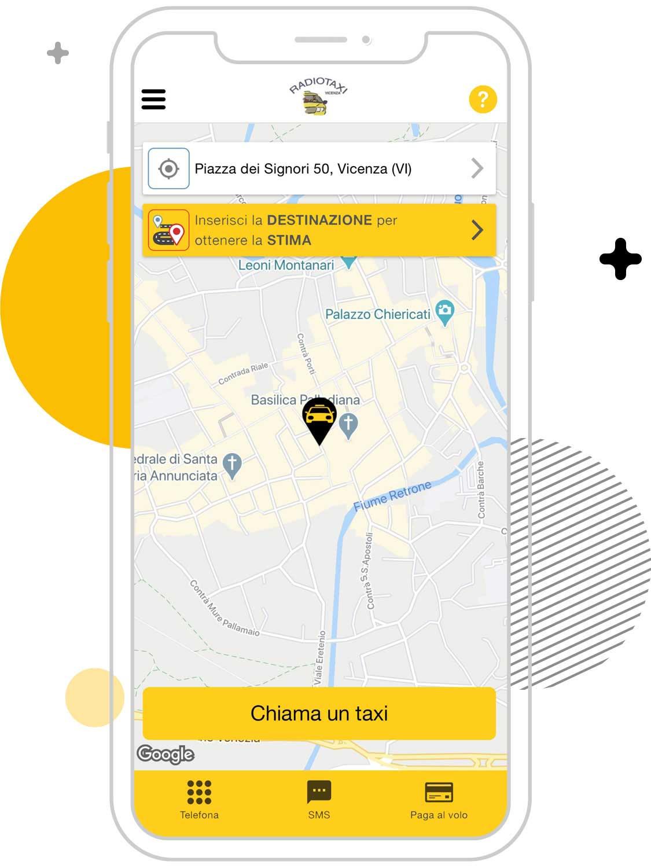 Busco un taxi en Vicenza