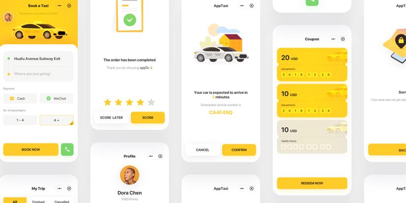 Mini-app cinese appTaxi