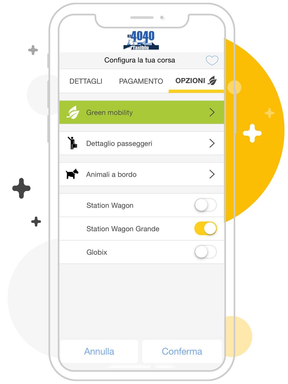 Opzioni taxi Milano