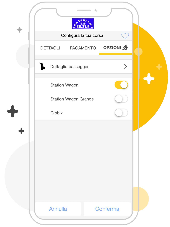 Opzioni taxi Monza