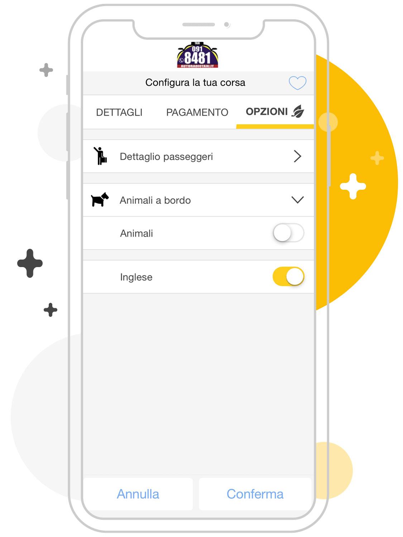 Opzioni taxi Palermo