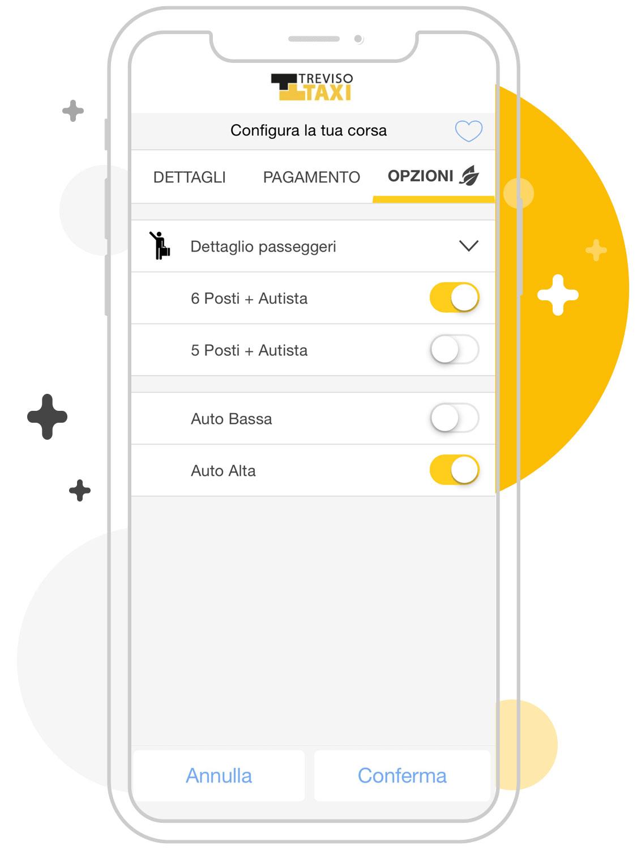 Opzioni taxi Treviso